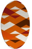 rug #1163707 | oval red-orange abstract rug