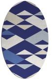 rug #1163719 | oval white retro rug