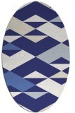 rug #1163719 | oval white abstract rug