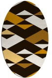 rug #1163723 | oval brown retro rug