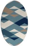 rug #1163731 | oval white abstract rug