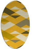 rug #1163739 | oval yellow retro rug