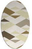 rug #1163743 | oval yellow rug