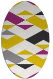 rug #1163747 | oval white abstract rug