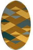 rug #1163751 | oval light-orange graphic rug