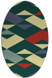 rug #1163755 | oval yellow graphic rug