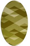 rug #1163759 | oval light-green rug