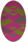 rug #1163767 | oval light-green rug
