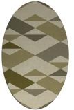 rug #1163774 | oval abstract rug