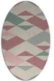rug #1163779   oval pink abstract rug