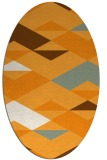 rug #1163783 | oval light-orange retro rug