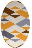 rug #1163787 | oval white abstract rug