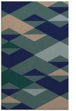 rug #1163831 |  blue graphic rug