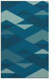 rug #1163843 |  blue-green retro rug