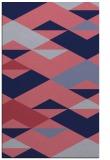 rug #1163883 |  pink abstract rug