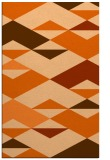 rug #1164067 |  red-orange graphic rug