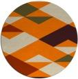 rug #1164159 | round orange retro rug