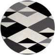 rug #1164163 | round black abstract rug