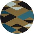 rug #1164187   round black graphic rug