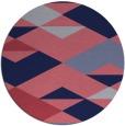 rug #1164251 | round blue-violet retro rug