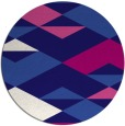 rug #1164259 | round blue-violet abstract rug