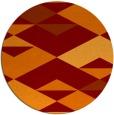 rug #1164367 | round red-orange rug