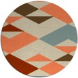 rug #1164375 | round beige abstract rug