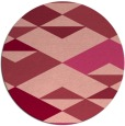 rug #1164391 | round pink retro rug