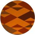 rug #1164431 | round red-orange graphic rug