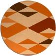 rug #1164435 | round red-orange popular rug