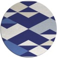 rug #1164455 | round white abstract rug