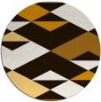 rug #1164459 | round brown retro rug