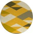 rug #1164475   round yellow retro rug