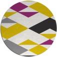rug #1164483 | round yellow retro rug