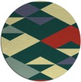 rug #1164491 | round yellow graphic rug