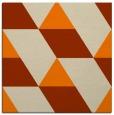 rug #1164895 | square orange geometry rug