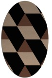 rug #1165279 | oval brown graphic rug