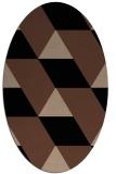 rug #1165282 | oval abstract rug