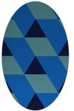 rug #1165295 | oval blue retro rug