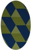 rug #1165307 | oval blue abstract rug