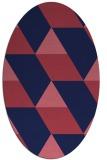 rug #1165355 | oval blue-violet graphic rug