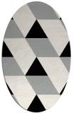 rug #1165407 | oval black graphic rug