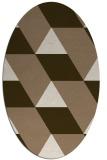 rug #1165419 | oval beige graphic rug