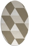 rug #1165423 | oval white abstract rug