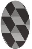 rug #1165458 | oval abstract rug