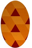 rug #1165471 | oval red-orange abstract rug