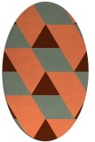 rug #1165483 | oval red-orange abstract rug