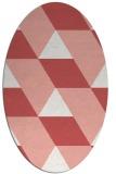 rug #1165499 | oval white retro rug