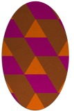 rug #1165543 | oval red-orange abstract rug
