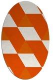 rug #1165549 | oval abstract rug